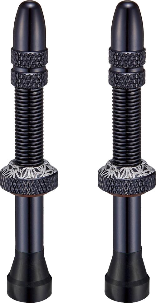 SUPACAZ ( スパカズ ) チューブレス バルブ STAR VALVEZ ( スターバルブ ) ブラック 50mm