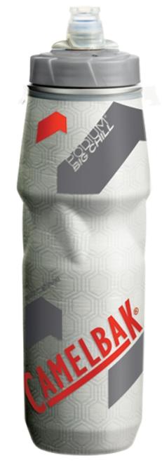 CAMELBAK(キャメルバック)ポディウムビッグチルボトル クリア/レッド 0.75L