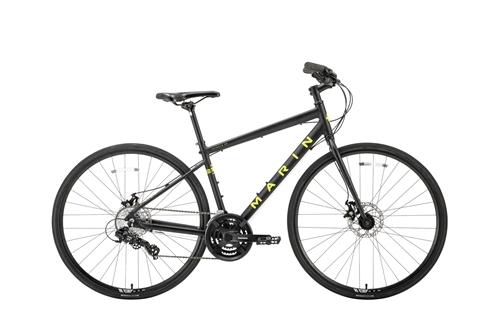 MARIN(マリン) クロスバイク FAIRFAX DISC SE ( フェアファックス ディスク SE ) マット ブラック / イエロー 15/XS