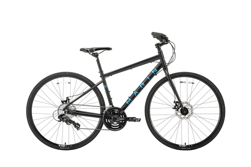 MARIN(マリン) クロスバイク FAIRFAX DISC SE ( フェアファックス ディスク SE ) マット ブラック / ブルー 15/XS