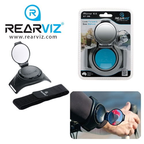 REARVIZ(リアビズ)アームミラー ユニバーサルバンド ブルー
