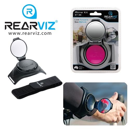REARVIZ(リアビズ)アームミラー ユニバーサルバンド ピンク