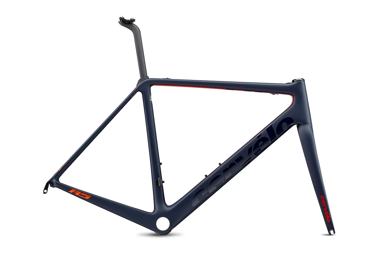 Cervelo ( サーベロ ) ロードフレーム R5 Rim Frameset ( R5 リム フレームセット ) ネイビー / レッド / オレンジ 48