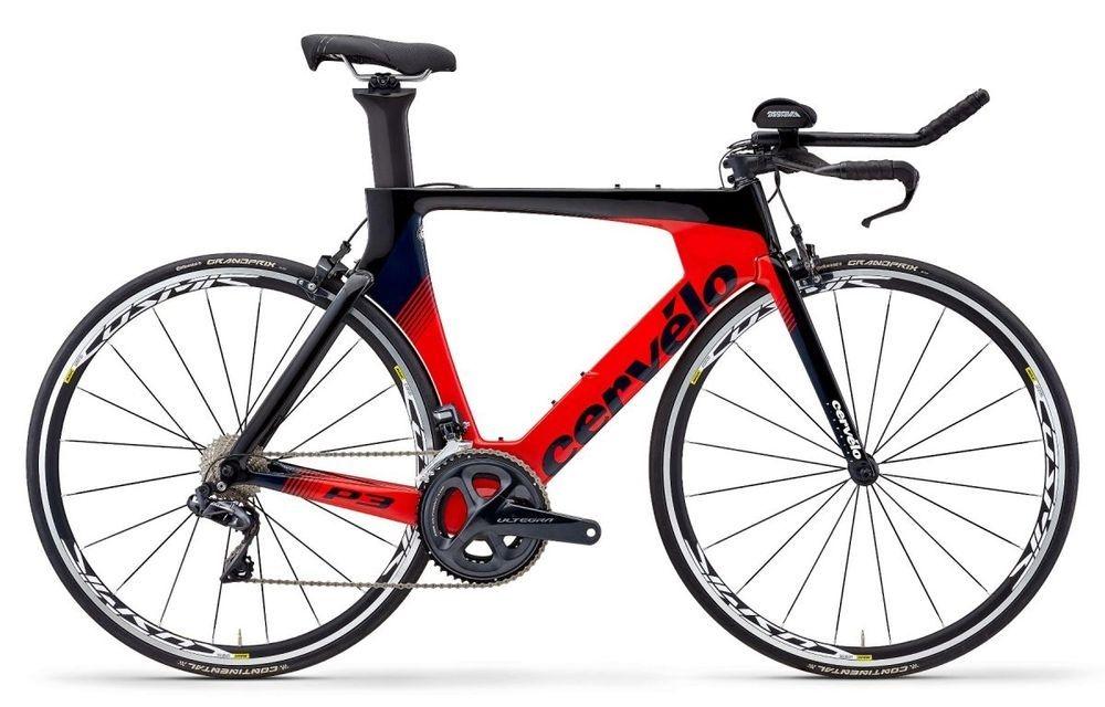 Cervelo ( サーベロ ) ロードバイク P3 Rim R8000 ( P3 リム R8000 ) ブラック / レッド / ネイビー 48
