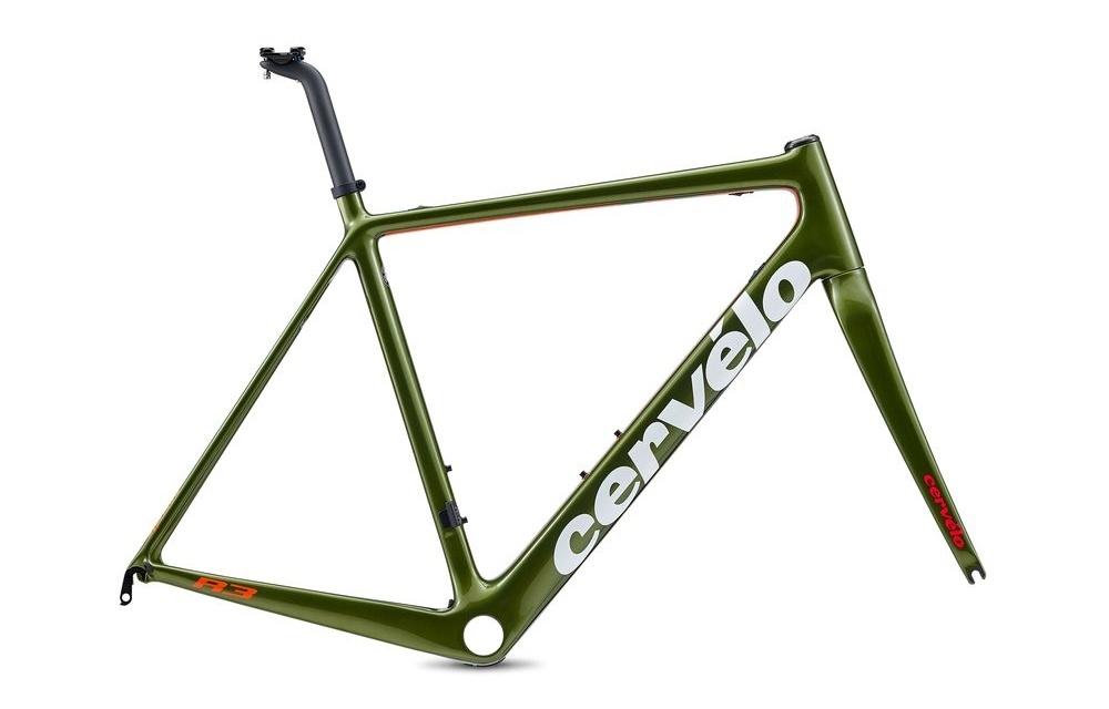 Cervelo ( サーベロ ) ロードフレーム R3 Rim LTD Frameset ( R3 リム リミテッド フレーム セット ) オリーブ / コーラル / オレンジ 48