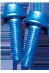 BENEFIT(ベネフィット) アルミボルト 4本パック ブルー M5X16mm