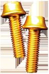 BENEFIT(ベネフィット) アルミボルト 4本パック ゴールド M5X16mm