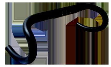 BENEFIT(ベネフィット) ハンドル アルミエアロハンドル ブラック 380mm