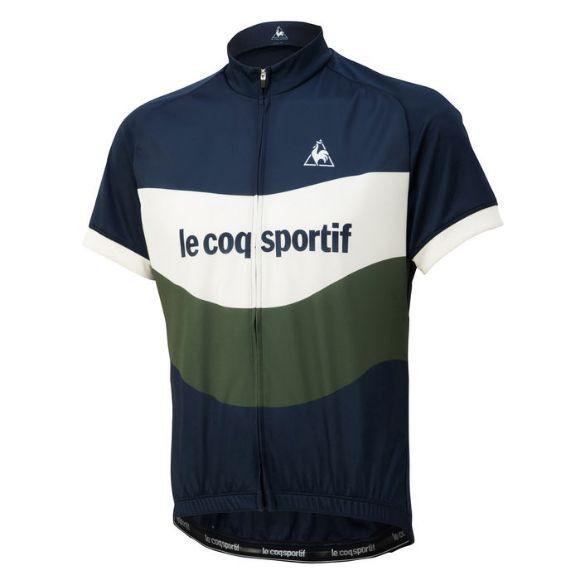 Le coq sportif ( ルコックスポルティフ ) 半袖ジャージ QCMNGA47 エッセンシャルジャージ ルーズフィット ネイビー M