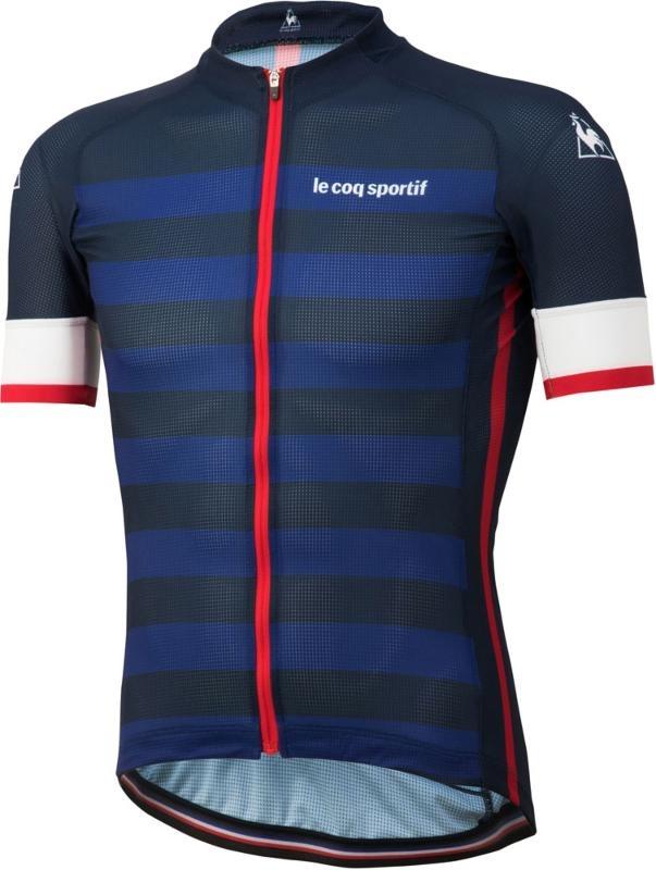Le coq sportif ( ルコックスポルティフ ) 半袖ジャージ QCMNGA41 3Dサマージャージ2.0 タイトフィット ネイビー M
