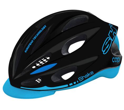 SH+ ( エスエイチプラス ) ヘルメット SHAKE CAP ( シェイクキャップ ) ブラックブルー XS/S(53-57)