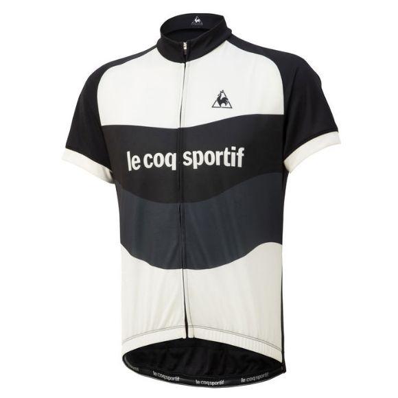 Le coq sportif ( ルコックスポルティフ ) 半袖ジャージ QCMNGA47 エッセンシャルジャージ ルーズフィット ブラック M
