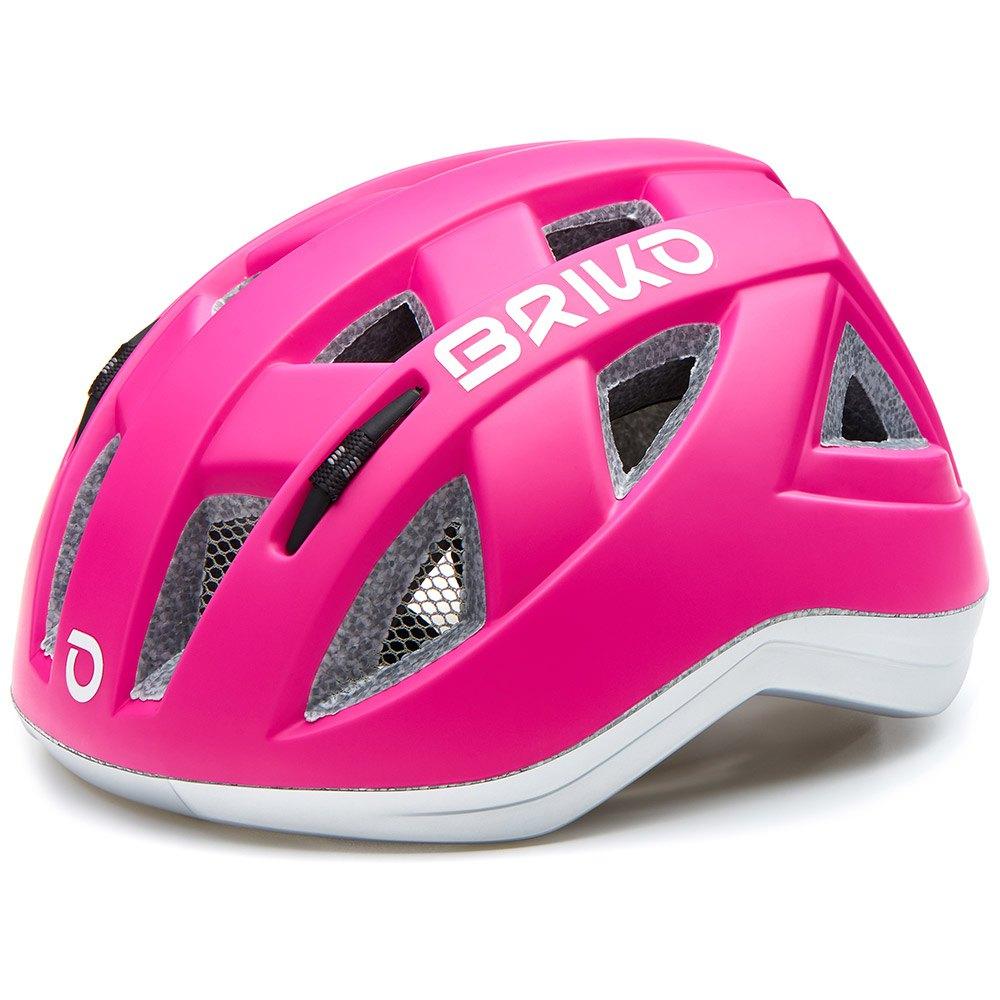 BRIKO ( ブリコ ) ヘルメット PAINT ( ペイント ) KIDS ピンク / シルバー M(48-52)