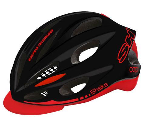 SH+ ( エスエイチプラス ) ヘルメット SHAKE CAP ( シェイクキャップ ) ブラックレッド XS/S(53-57)