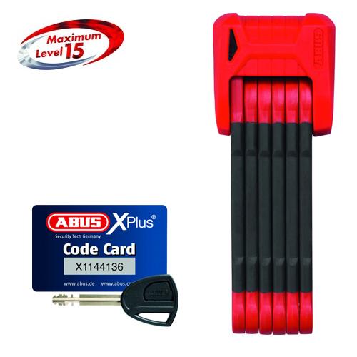 ABUS(アブス)BORDO GRANIT X-PLUS 6500 レッド