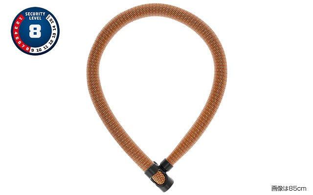 ABUS(アブス) IVERA CHAIN 7210 チェーンロック 110cm スパークリングオレンジ