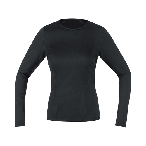 GORE WEAR ( ゴアウェア ) M WOMEN ベース レイヤー ロング スリーブ シャツ ブラック XS ( EUサイズ )