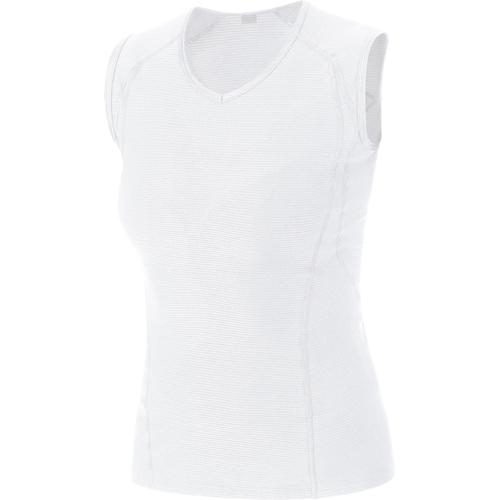 GORE WEAR(ゴアウェア)M WOMEN ベース レイヤー スリーブレス シャツ ホワイト S