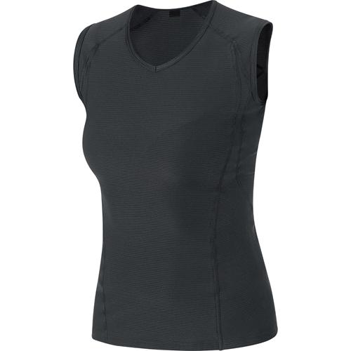 GORE WEAR(ゴアウェア)M WOMEN ベース レイヤー スリーブレス シャツ ブラック XS