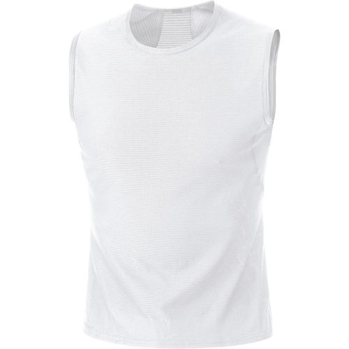 GORE WEAR(ゴアウェア)M ベース レイヤー スリーブレス シャツ ホワイト XL