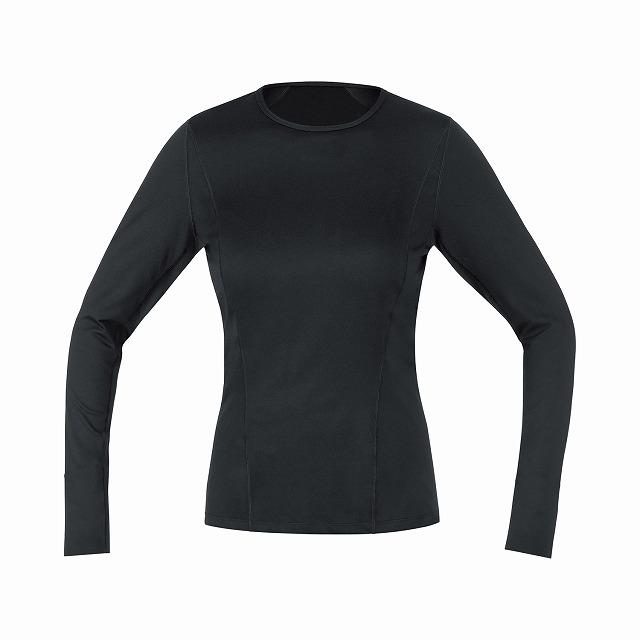GORE WEAR ( ゴアウェア ) M WOMEN ベースレイヤー サーモ ロング スリーブ シャツ ブラック XS