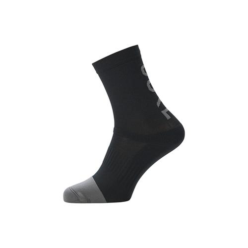GORE WEAR(ゴアウェア) M ミッド ブランド ソックス ブラック / グラファイトグレイ M(EUサイズ)