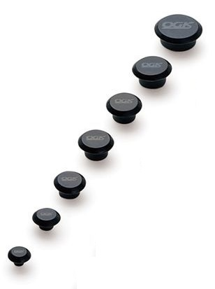 OGK KABUTO(オージーケーカブト) ネジキャップ ブラック 2.5MM