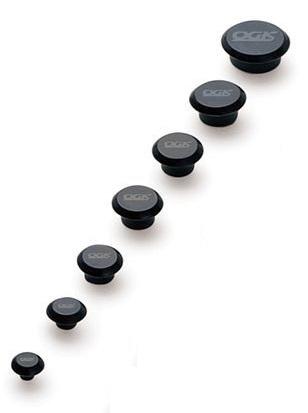 OGK KABUTO(オージーケーカブト)ネジキャップ ブラック 6MM