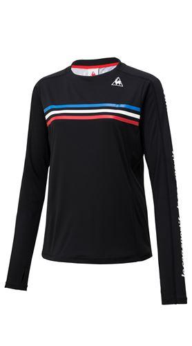Le coq sportif(ルコックスポルティフ)トリコロールロングスリーブシャツ ブラック S