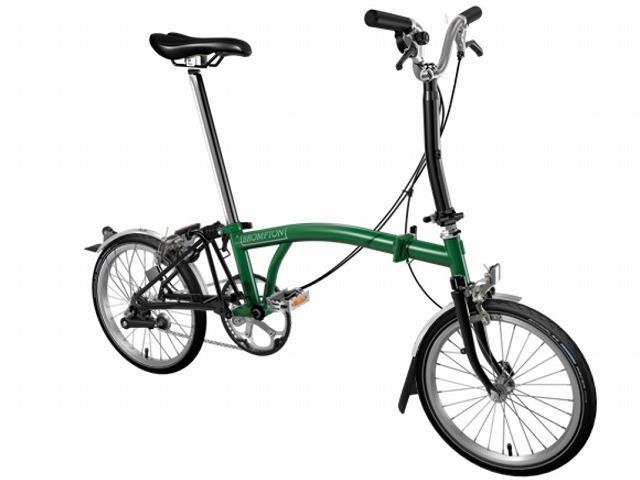 【店舗受取限定/ポイント3%還元】 BROMPTON ( ブロンプトン ) 折りたたみ自転車 20年モデル M3L レーシンググリーン / ブラック
