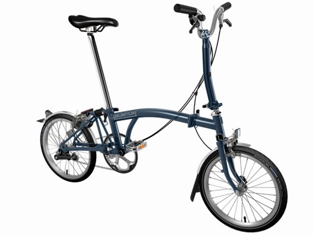 【店舗受取限定/ポイント3%還元】 BROMPTON ( ブロンプトン ) 折りたたみ自転車 20年モデル M3L テンペストブルー