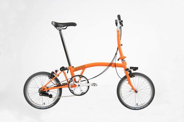 【店舗受取限定/ポイント3%還元】 BROMPTON(ブロンプトン) 20年モデル S2LX SUPERLIGHT 折りたたみ自転車 オレンジ