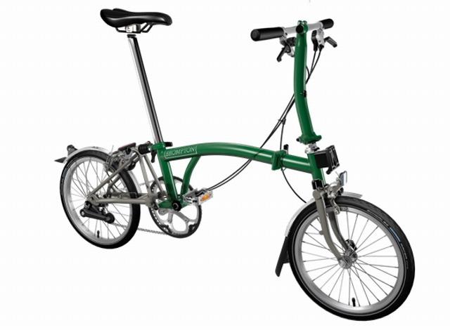 【店舗受取限定/ポイント3%還元】 BROMPTON ( ブロンプトン ) 20年モデル S2LX SUPERLIGHT 折りたたみ自転車 レーシンググリーン