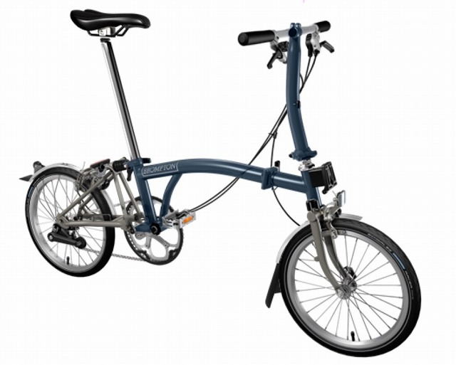 【店舗受取限定/ポイント3%還元】 BROMPTON(ブロンプトン) 20年モデル S2LX SUPERLIGHT 折りたたみ自転車 テンペストブルー