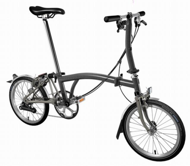 【店舗受取限定/ポイント3%還元】 BROMPTON(ブロンプトン) 20年モデル S6LX SUPERLIGHT 折りたたみ自転車 メタリックグラファイト