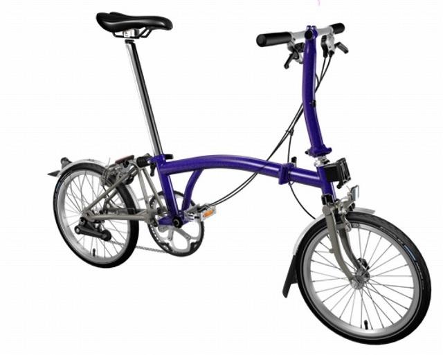 【店舗受取限定/ポイント3%還元】 BROMPTON(ブロンプトン) 20年モデル S2LX SUPERLIGHT 折りたたみ自転車 パープルメタリック