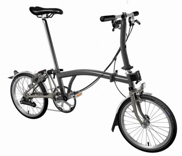 【店舗受取限定/ポイント3%還元】 BROMPTON(ブロンプトン) 20年モデル S2LX SUPERLIGHT 折りたたみ自転車 メタリックグラファイト