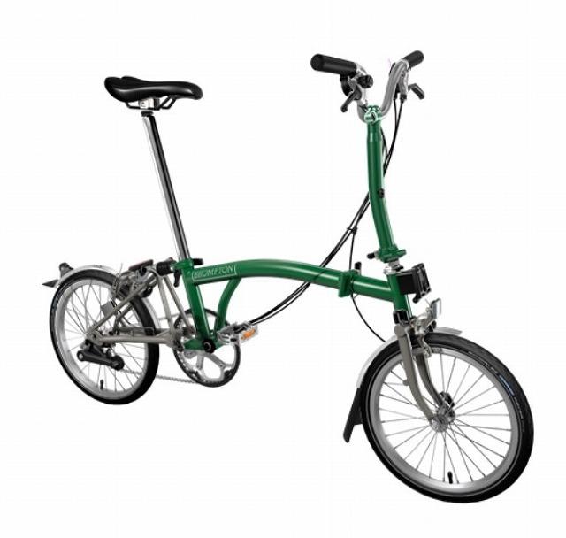 【店舗受取限定/ポイント3%還元】 BROMPTON ( ブロンプトン ) 20年モデル M6LX SUPERLIGHT 折りたたみ自転車 レーシンググリーン