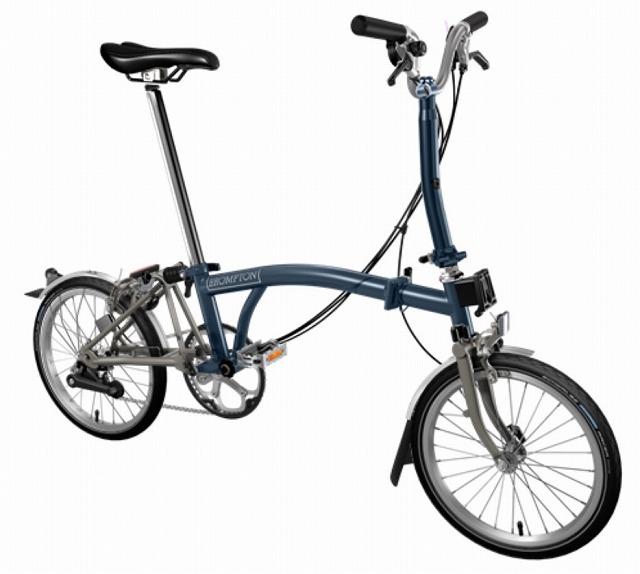 【店舗受取限定/ポイント3%還元】 BROMPTON(ブロンプトン) 20年モデル M6LX SUPERLIGHT 折りたたみ自転車 テンペストブルー