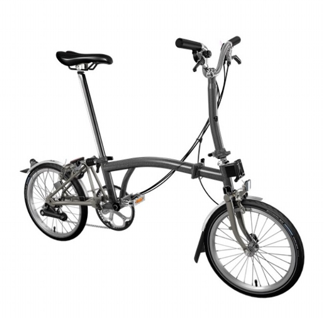 【店舗受取限定/ポイント3%還元】 BROMPTON(ブロンプトン) 20年モデル M6LX SUPERLIGHT 折りたたみ自転車 メタリックグラファイト