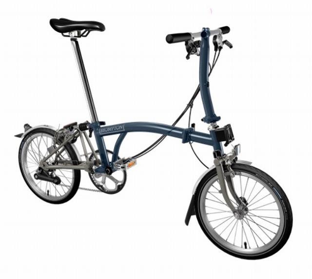 【店舗受取限定/ポイント3%還元】 BROMPTON(ブロンプトン) 20年モデル S6LX SUPERLIGHT 折りたたみ自転車 テンペストブルー