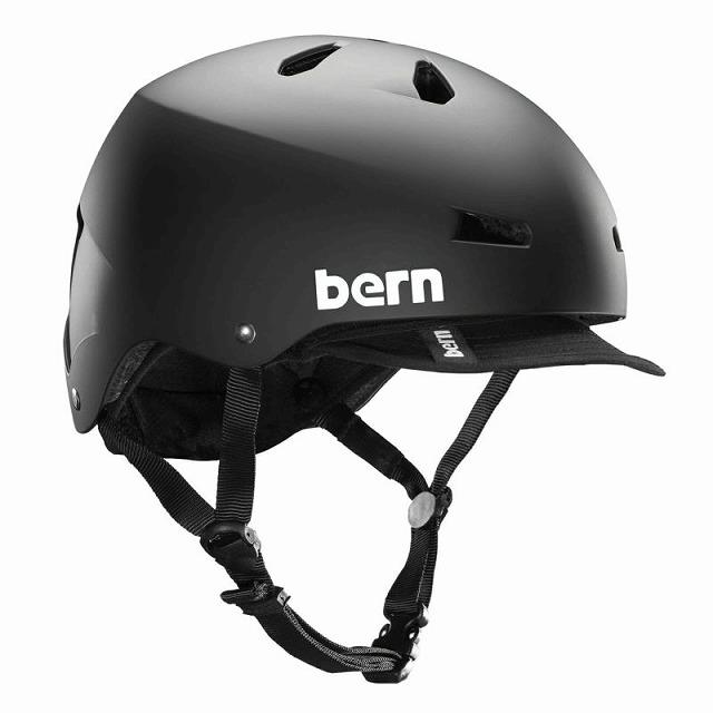 【オンライン限定特価 / 通勤に最適なヘルメット】 BERN ( バーン ) ヘルメット MACON VISOR ( メーコン バイザー ) マットブラック XL