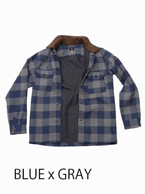 rin project(リンプロジェクト) 旅シャツジャケット  ブルー / グレー M