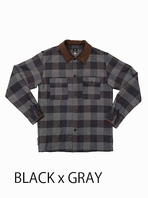 rin project(リンプロジェクト) 旅シャツジャケット  ブラック / グレー S