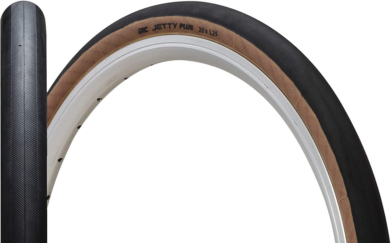 IRC ( アイアールシー ) タイヤ JETTY PLUS ジェティプラス ブラック / スキンサイド 20X1.25