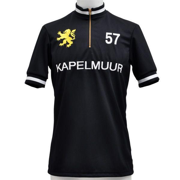 KAPELMUUR(カペルミュール) 半袖レトロ ジャージ ブラック XS