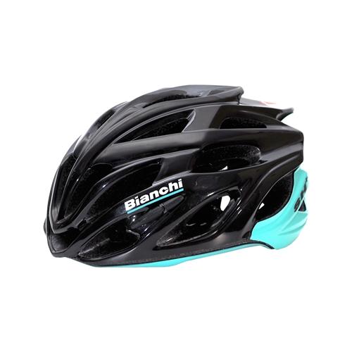 BIANCHI(ビアンキ) ヘルメット シャブリ ブラック/チェレステ ワンサイズ(55-60)