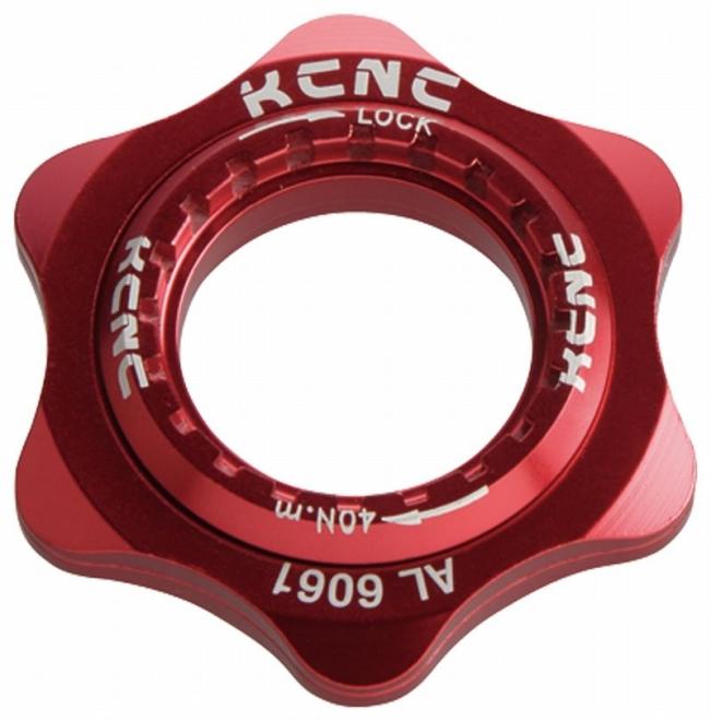 KCNC(ケーシーエヌシー)レッド 20T センターロックアダプター