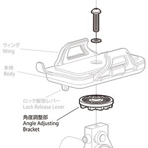 MINOURA(ミノウラ)IH100/400 角度調整クランプ受け&ボルト・ワッシャー