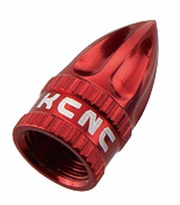 KCNC(ケーシーエヌシー)レッド 米式 バルブキャップ
